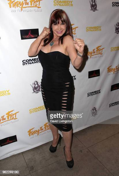 Actress Cynthia Rothrock attends the premiere of Comedy Dynamics' The Fury of the Fist and the Golden Fleece at Laemmle's Music Hall 3 on May 24 2018...