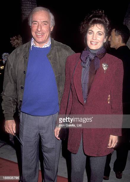 Actress Cynthia Sikes and director Bud Yorkin attend the Bugsy Beverly Hills Premiere on December 12 1991 at Academy of Motion Picture Arts and...