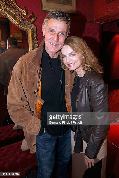 Actress Cyrielle Clair and Actor of the Piece Pierre Deny attend the Theater Play 'Ne me regardez pas comme ca ' performed at 'Theatre Des Varietes'...