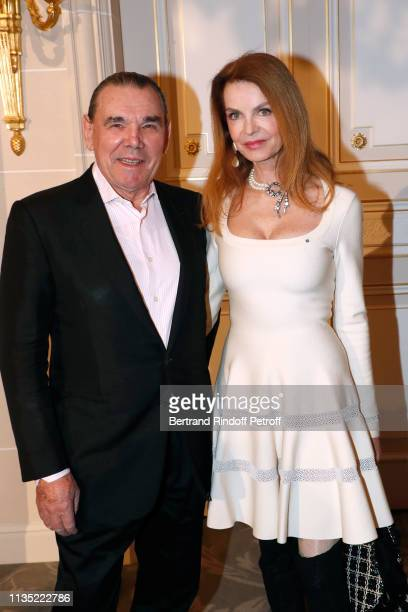 Actress Cyrielle Clair and companion Michel Corbiere attend the Stethos d'Or 2019 Charity Gala of the Foundation for Physiological Research at on...