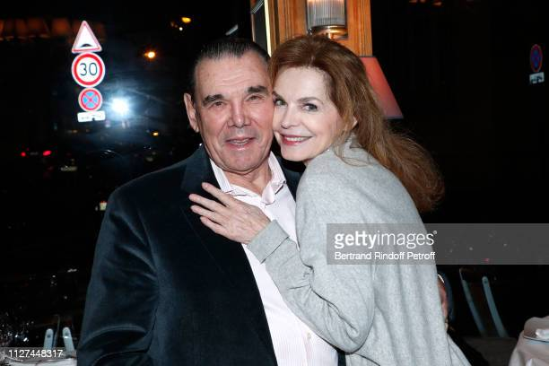 Actress Cyrielle Clair and companion Michel Corbiere pose after the Marlene is Back Show at Theatre de la Tour Eiffel on February 01 2019 in Paris...