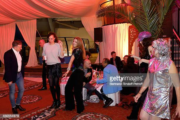 Actress Cyrielle Clair And Guests Danse During The 1st Wedding Anniversary Party Of