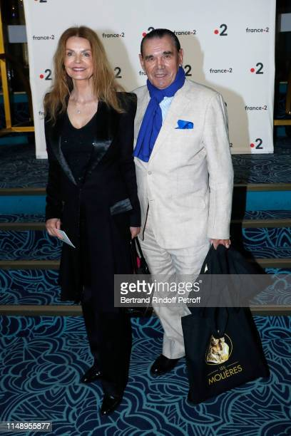 Actress Cyrielle Clair and Michel Corbiere attend the 31eme Nuit des Molieres at Les Folies Bergeres on May 13 2019 in Paris France