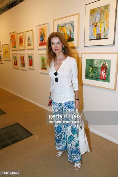 Actress Cyrielle Clair attends the pascALEjandro L'Androgyne Alchimique Exhibition's Book Signing at Galerie Azzedine Alaia on June 23 2017 in Paris...