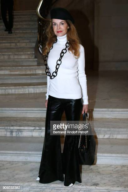 Actress Cyrielle Clair attends the Stephane Rolland Haute Couture Spring Summer 2018 show as part of Paris Fashion Week Held at Opera Comique on...