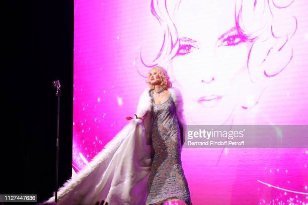 Actress Cyrielle Clair perform during the Marlene is Back Show at Theatre de la Tour Eiffel on February 01 2019 in Paris France