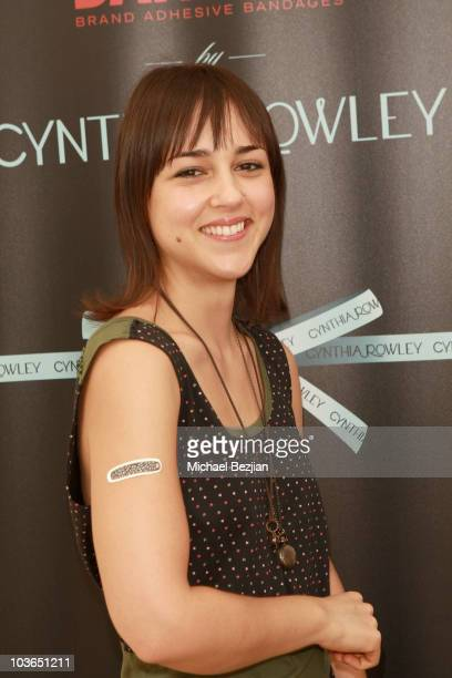 Actress Cyrina Fiallo at the Band-Aid booth during Kari Feinstein Primetime Emmy Awards Style Lounge Day 1 held at Montage Beverly Hills hotel on...