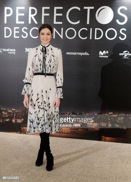 Actress Dafne Fernandez attends 'Perfectos Desconocidos' photocall at the Hesperia Hotel on November 28 2017 in Madrid Spain