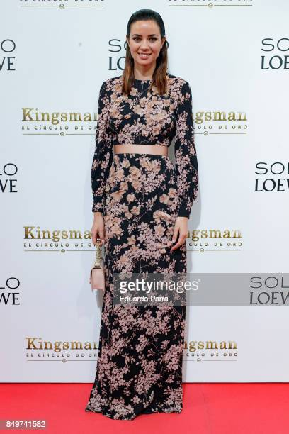 Actress Dafne Fernandez attends the 'Kingsman El Circulo De Oro' premiere at Callao cinema on September 19 2017 in Madrid Spain