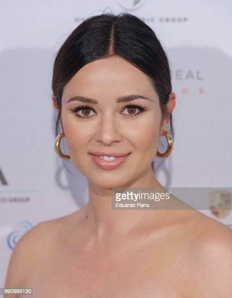 Actress Dafne Fernandez attends the 'The World of Hans Zimmer' concert photocall at Royal Theatre on July 3 2018 in Madrid Spain