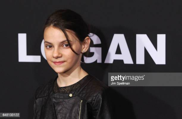 Actress Dafne Keen attends the 'Logan' New York screening at Rose Theater Jazz at Lincoln Center on February 24 2017 in New York City