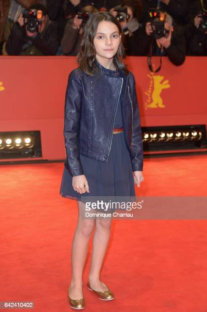 Actress Dafne Keen attends the 'Logan' premiere during the 67th Berlinale International Film Festival Berlin at Berlinale Palace on February 17 2017...