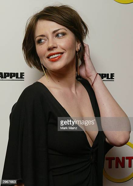 Actress Dagmara Dominczyk attends the premiere of 'Bad Apple' at Leows Cineplex February 10 2003 in New York City