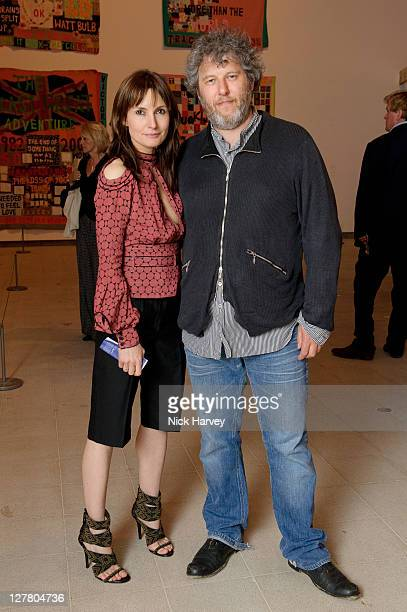 Actress Daisy Bates and her husband director Malcolm Venville attend the Special Preview to the exhibition Love is What You Want by Tracey Emin at...