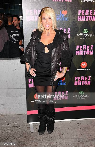 Actress Daisy de la Hoya arrives at celebrity blogger Perez Hilton's One Night In LA Party held at the Wiltern Theatre on September 11 2010 in Los...