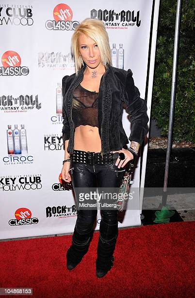 Actress Daisy De la Hoya arrives at the premiere party for VH1 Classic's Rock 'N' Roll Fantasy Camp TV show on October 5 2010 in Los Angeles...