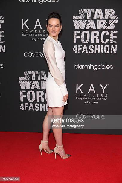 Actress Daisy Ridley attends Star Wars 'Force 4 Fashion' launch event at Skylight Modern on December 2 2015 in New York City