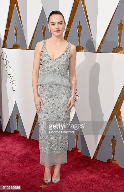 Actress Daisy Ridley attends the 88th Annual Academy Awards at Hollywood Highland Center on February 28 2016 in Hollywood California