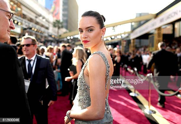 Actress Daisy Ridley attends the 88th Annual Academy Awards at Hollywood & Highland Center on February 28, 2016 in Hollywood, California.