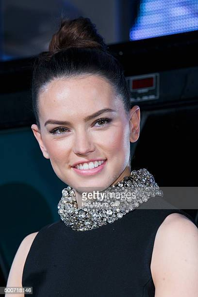 Actress Daisy Ridley attends the event for fans ahead of 'Star Wars The Force Awakens' South Korea premiere at the Octagon on December 9 2015 in...