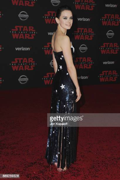 Actress Daisy Ridley attends the Los Angeles Premiere 'Star Wars The Last Jedi' at The Shrine Auditorium on December 9 2017 in Los Angeles California