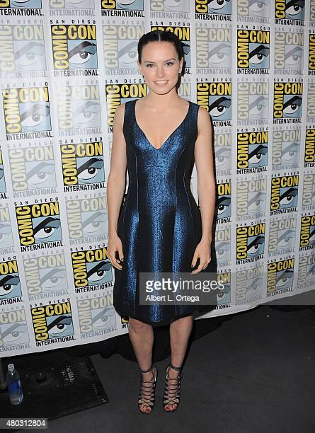 Actress Daisy Ridley attends the Lucasfilm panel during ComicCon International 2015 at the San Diego Convention Center on July 10 2015 in San Diego...