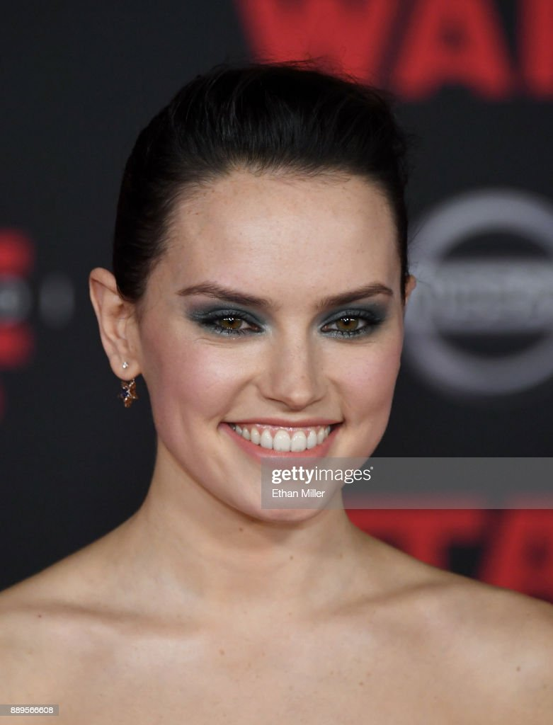 Actress Daisy Ridley attends the premiere of Disney Pictures and Lucasfilm's 'Star Wars: The Last Jedi' at The Shrine Auditorium on December 9, 2017 in Los Angeles, California.
