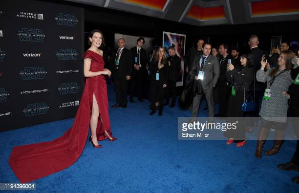 Actress Daisy Ridley attends the premiere of Disney's Star Wars The Rise of Skywalker on December 16 2019 in Hollywood California