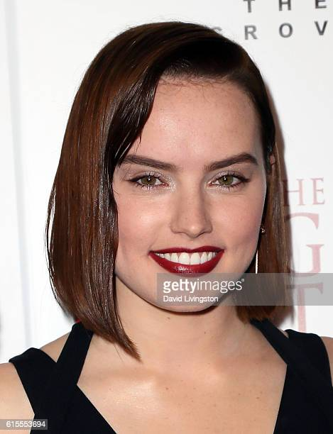 Actress Daisy Ridley attends the premiere of Sony Pictures Classics' 'The Eagle Huntress' at Pacific Theaters at the Grove on October 18 2016 in Los...