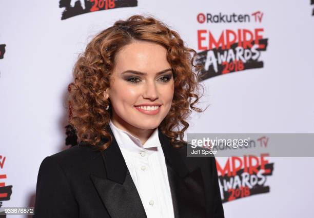Actress Daisy Ridley attends the Rakuten TV EMPIRE Awards 2018 at The Roundhouse on March 18, 2018 in London, England.