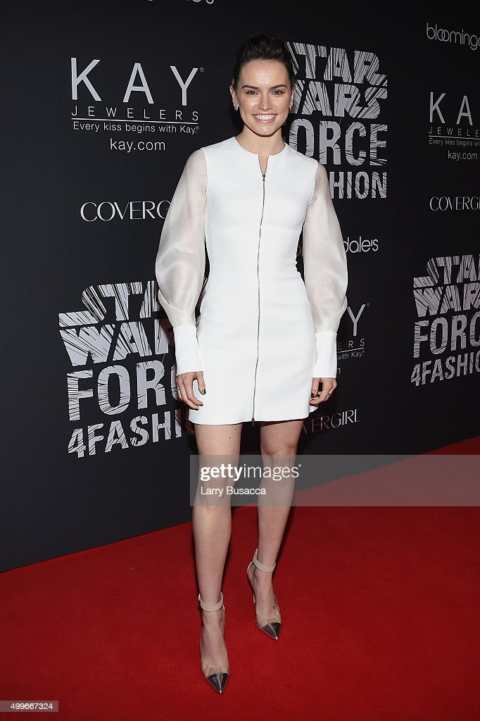 Actress Daisy Ridley attends the Star Wars 'Force 4 Fashion' Event on Dec. 2 at the Skylight Modern in NYC. Top designers showcased bespoke looks inspired by characters from Star Wars: The Force Awakens that will be auctioned off for Bloomingdale's holiday charity.