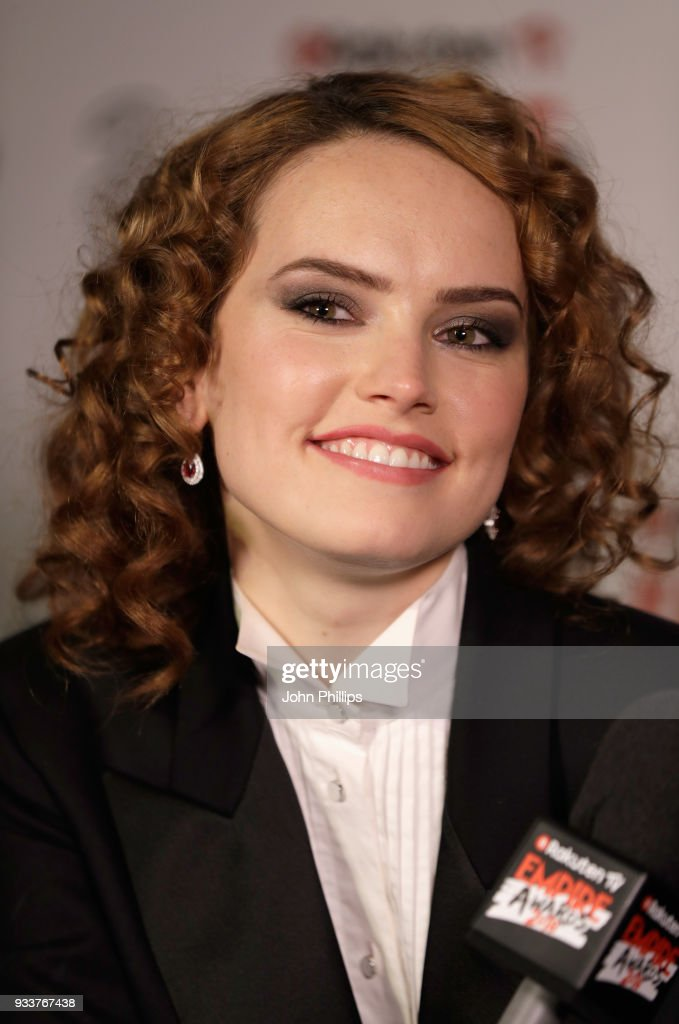 Actress Daisy Ridley is interviewed in the winners room at the Rakuten TV EMPIRE Awards 2018 at The Roundhouse on March 18, 2018 in London, England.