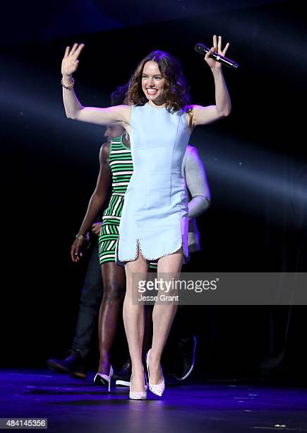 Actress Daisy Ridley of STAR WARS THE FORCE AWAKENS took part today in 'Worlds Galaxies and Universes Live Action at The Walt Disney Studios'...