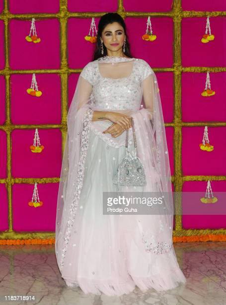 Actress Daisy Shah attend the Diwali Bash hosted by actor and producer Kishan Kumar on October 26 2019 in Mumbai India