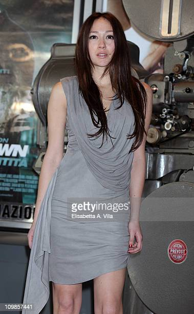 Actress Dajana Roncione attends Il Commissario Montalbano photocall at the Adriano Cinema on March 8 2011 in Rome Italy
