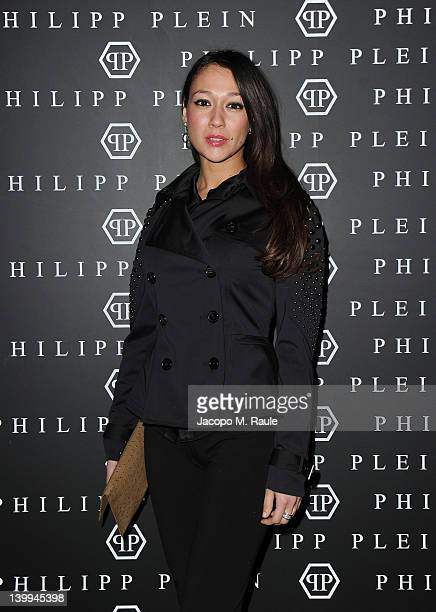 Actress Dajana Roncione attends Philipp Plein fashion show as part of Milan Womenswear Fashion Week on February 25, 2012 in Milan, Italy.