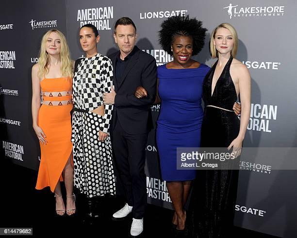 Actress Dakota Fanning actress Jennifer Connelly actor/director Ewan McGregor actress Uzo Aduba and actress Valorie Curry arrive for the Special...