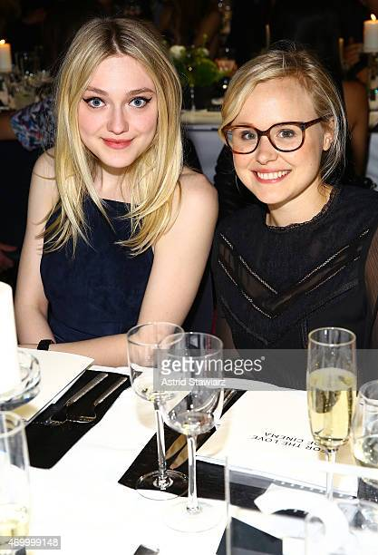 Actress' Dakota Fanning and Alison Pill attend the IWC Schaffhausen Third Annual 'For the Love of Cinema' Gala during the Tribeca Film Festival on...