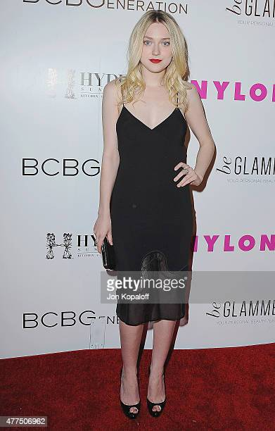 Actress Dakota Fanning arrives at NYLON Magazine And BCBGeneration Annual May Young Hollywood Issue Party Hosted By May Cover Star Dakota Fanning at...