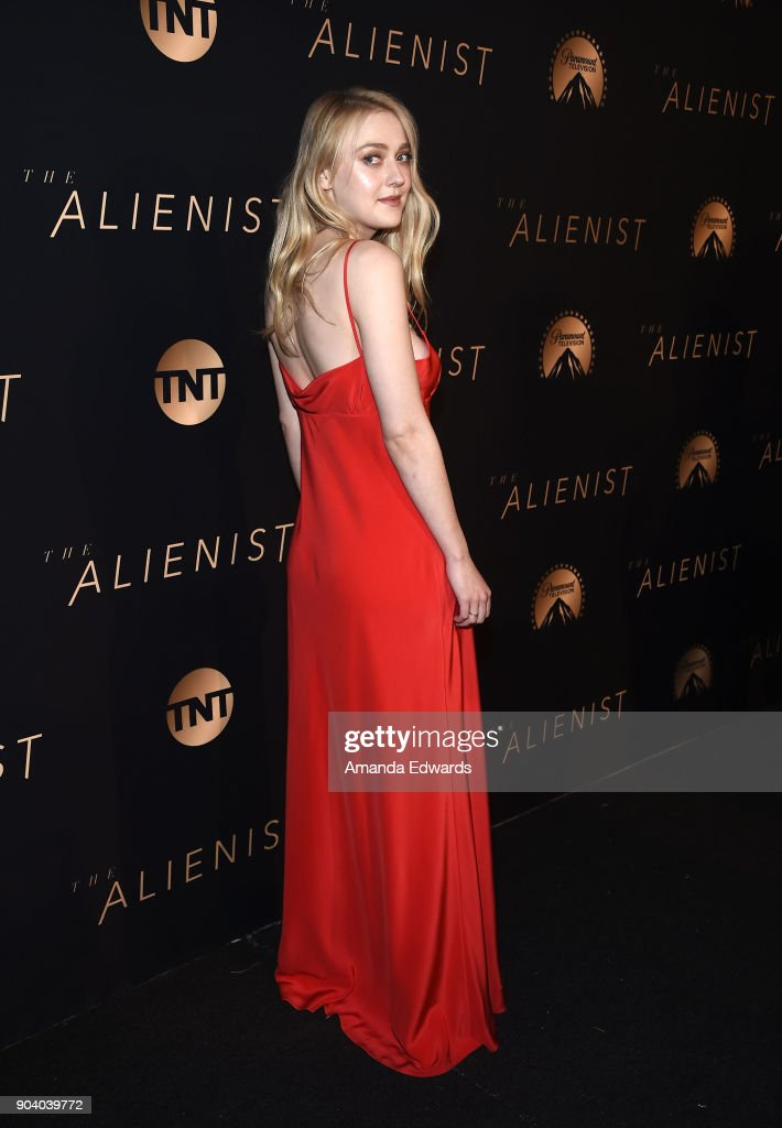 Actress Dakota Fanning arrives at the premiere of TNT's 'The Alienist' at The Paramount Lot on January 11, 2018 in Hollywood, California.