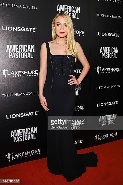 Actress Dakota Fanning attends a screening of American Pastoral at the Museum of Modern Art on October 19 2016 in New York City