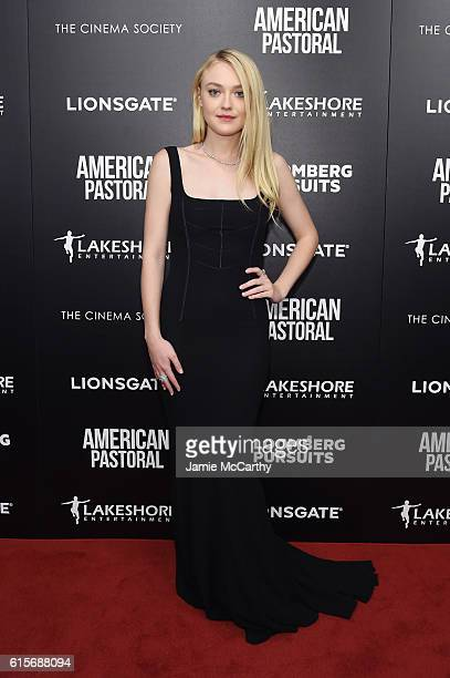 Actress Dakota Fanning attends a screening of American Pastoral hosted by Lionsgate Lakeshore Entertainment and Bloomberg Pursuits at Museum of...