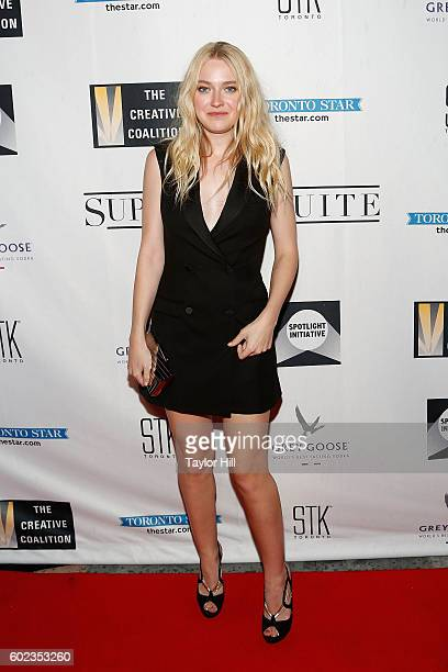 Actress Dakota Fanning attends the 2016 Creative Coalition Spotlight Initiative Gala Awards Dinner at Supper Suite by STK on September 10 2016 in...