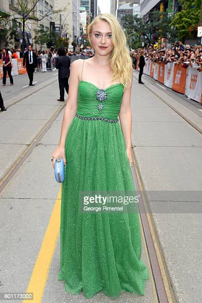 Actress Dakota Fanning attends the American Pastoral during the 2016 Toronto International Film Festival premiere at Princess of Wales Theatre on...