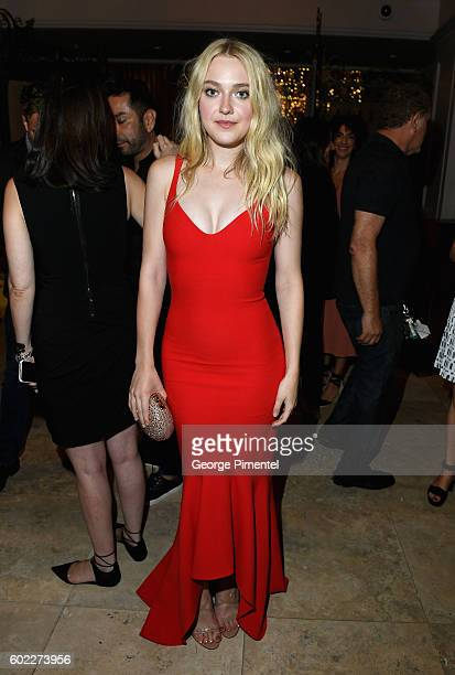 Actress Dakota Fanning attends the Hollywood Foreign Press Association and InStyle's annual celebration of the Toronto International Film Festival at...