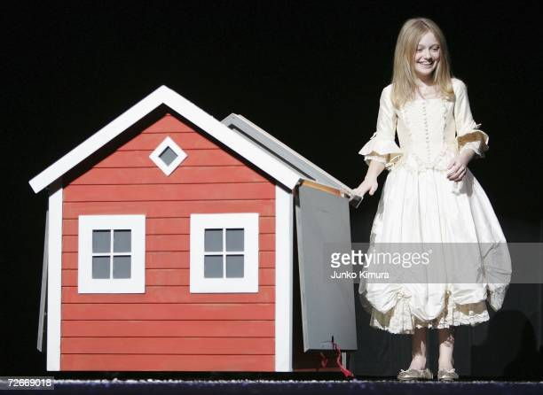 Actress Dakota Fanning attends the Japan Premiere of Charlotte's Web on November 29 2006 in Tokyo Japan The film directed by Gary Winick will open on...