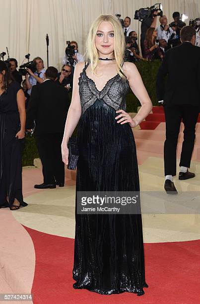 """Actress Dakota Fanning attends the """"Manus x Machina: Fashion In An Age Of Technology"""" Costume Institute Gala at Metropolitan Museum of Art on May 2,..."""
