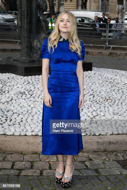 Actress Dakota Fanning attends the 'Miu Miu' fashion show on October 3 2017 in Paris France