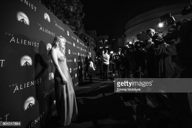 Actress Dakota Fanning attends the LA premiere of the Alienist at Paramount Studios on January 11 2018 in Hollywood California