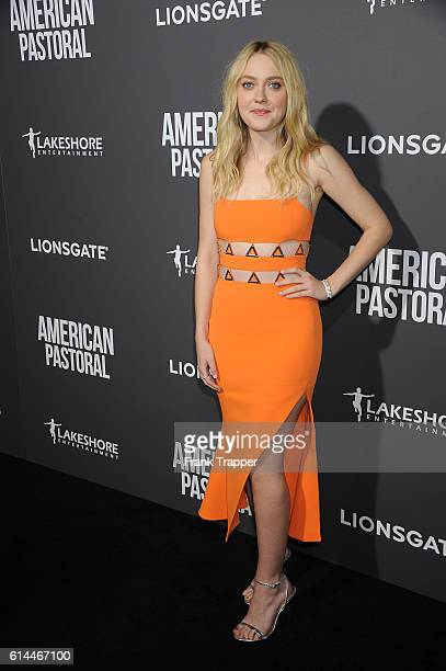 Actress Dakota Fanning attends the special screening of Lionsgate's American Pastoral held at The Samuel Goldwyn Theater on October 13 2016 in...